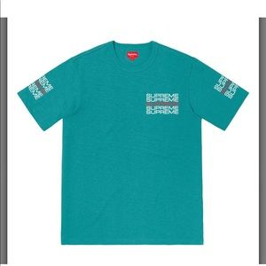 Supreme stack logo shirt